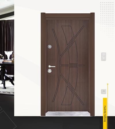 Блиндирана врата модел 28 златен дъб|врата модел 28