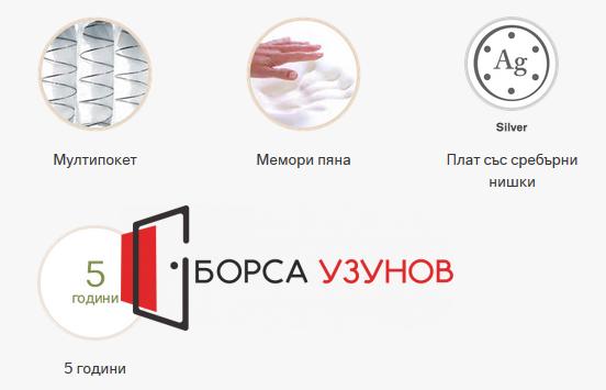 характеристики на Еднолицев матрак Exclusive Memory Silver