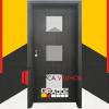 Gradde Bergedorf цвят Череша Сан Диего|Размери на интериорни врати Gradde|крило на врати Gradde|размери на врати Gradde