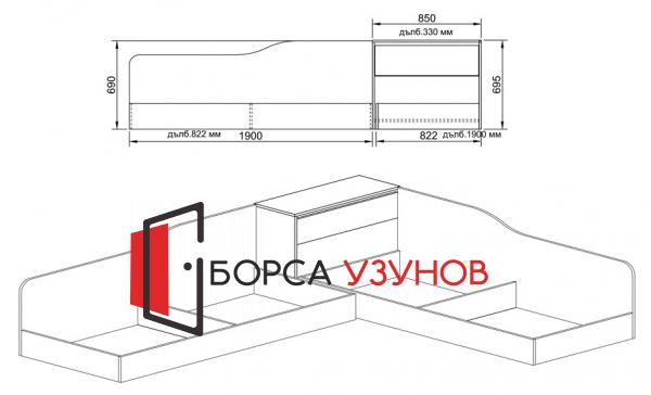 Схема за ъглово легло СИТИ 2001