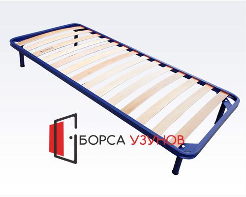 Метално легло КОМФОРТ с възможност за добавяне на крачета