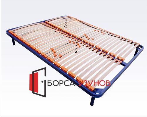 Метално легло Лукс с възможност за добавяне на крачета