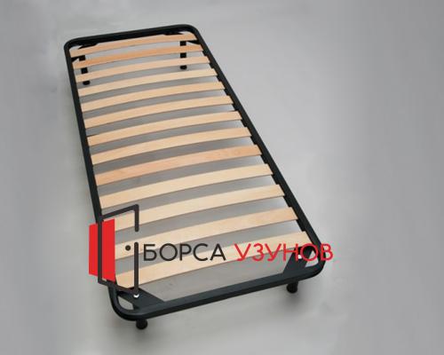 Черно метално легло КОМФОРТ с крачета