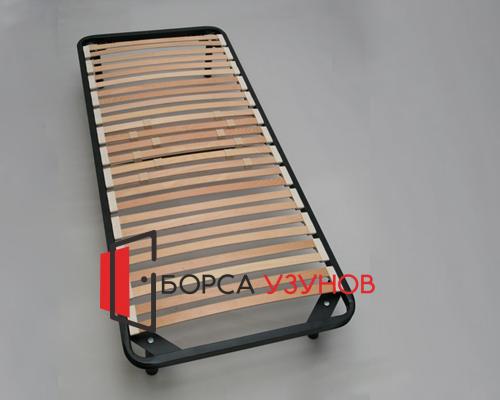 Черно метално легло Лукс с крачета