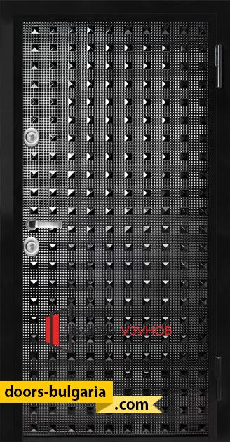 Блиндирана врата T777 черен гланц от Узунов