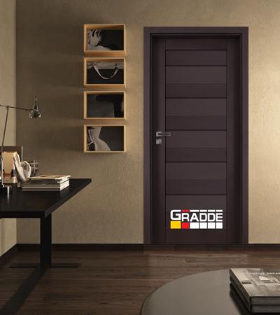 Врата Gradde серия Aaven модел Full Орех Рибейра
