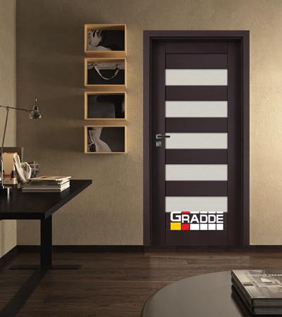 Врата Gradde серия Aaven модел Glas Орех Рибейра