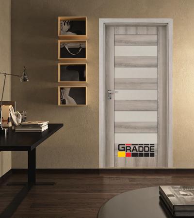 Врата Gradde серия Aaven модел Glas Ясен Вералинга