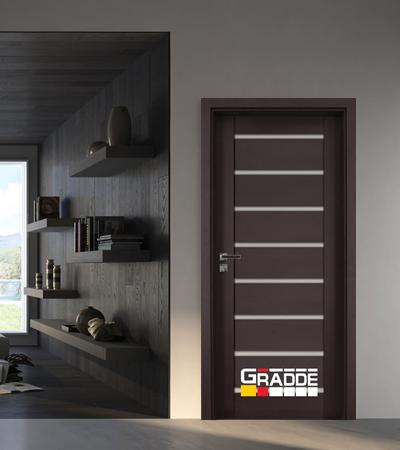 Врата Gradde серия Axel модел Glas Орех Рибейра