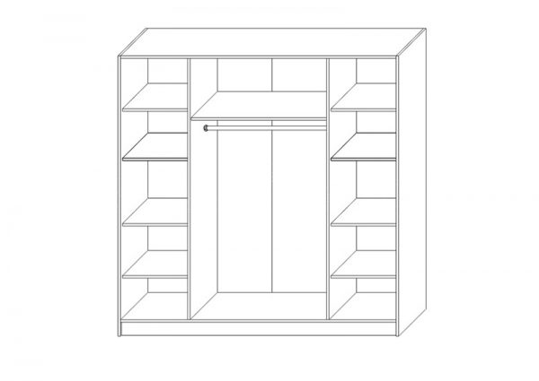 Вътрешно разпределение на гардероб АТИНА