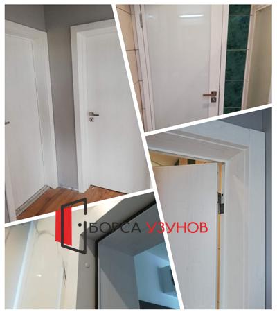 Алуминиева врата с обличаща каса