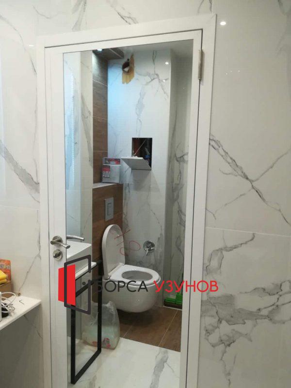 Обличаща каса за алуминиева врата с огледало