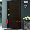 Входна блиндирана врата Ale Door 403 в цвят Wenge