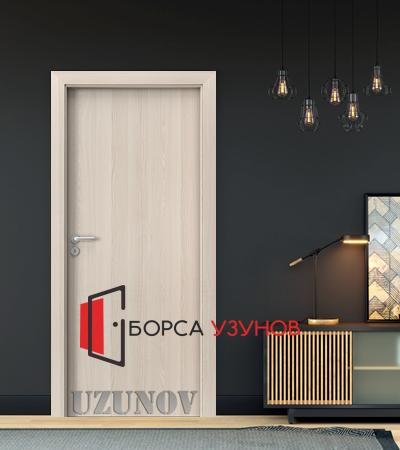 Интериорна врата Porta DECOR ПЛЪТНА цвят Светъл Орех